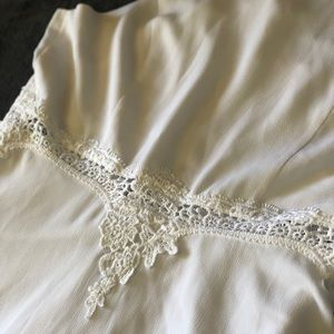 White dress with lace